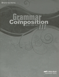 Grammar and Composition III - Test/Quiz Key