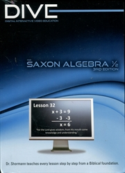 DIVE Algebra 1/2 CD-ROMs (Third Edition)