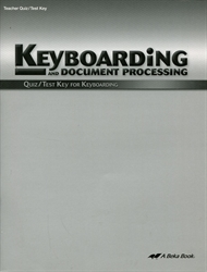 Keyboarding and Document Processing - Quiz/Test Key