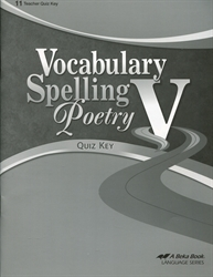 Vocabulary, Spelling, Poetry V - Quiz Key