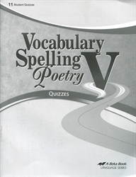 Vocabulary, Spelling, Poetry V - Quiz Book