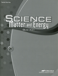Science: Matter and Energy - Quiz Key