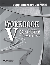 Supplementary Exercises for Workbook V - Teacher Key