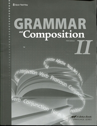 Grammar and Composition II - Quiz/Test Key