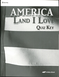 America: Land I Love - Quiz Key
