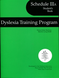Dyslexia Training Program Schedule IIIA - Student's Book