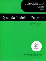 Dyslexia Training Program Schedule IIIB - Student's Book