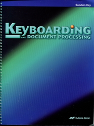 Keyboarding & Document Processing - Solution Key