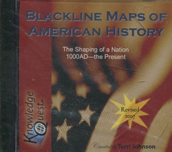 Blackline Maps of American History CD-ROM
