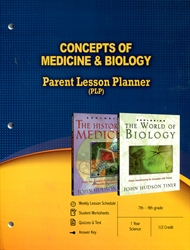 PLP: Concepts of Medicine & Biology - Parent Lesson Planner