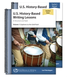 U.S. History-Based Writing Lessons Volume 1 - Set