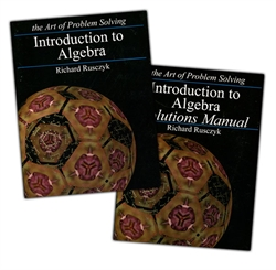 Art of Problem Solving Introduction to Algebra - Textbook & Solutions Manual