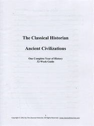 Classical Historian 32-Week Ancient Civilizations Guide