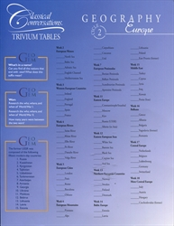 Trivium Tables Cycle 2 Geography