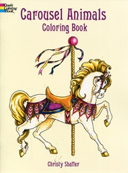 Carousel Animals - Coloring Book