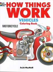 How Things Work: Vehicles - Coloring Book