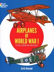 Airplanes of World War I - Coloring Book