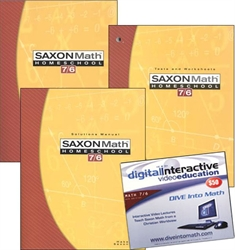 Saxon Math 7/6 - Home School Bundle with DIVE CD