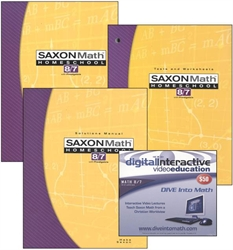 Saxon Math 8/7 - Home School Bundle with DIVE CD
