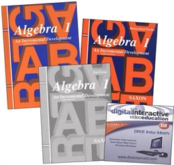 Saxon Algebra 1 - Home School Bundle with DIVE CD