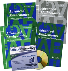 Saxon Advanced Mathematics - Home School Bundle with DIVE CD