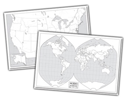 USA/World Mark-It Map (folded)