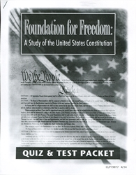 Foundation for Freedom - Test & Quiz Packet