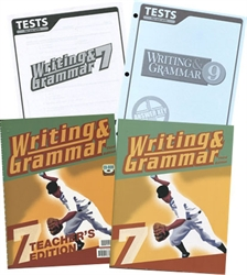 BJU Writing & Grammar 7 - Home School Kit