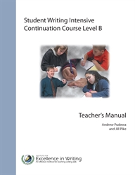 Student Writing Intensive Level B - Continuation Course Teacher's Book
