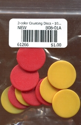 2-color Counting Discs - 10-Piece Learning Set