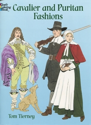 Cavalier and Puritan Fashions - Coloring Book
