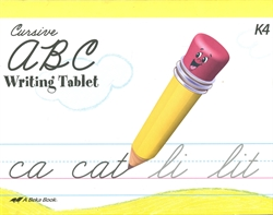 ABC Writing Tablet - Cursive