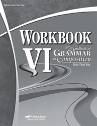 Workbook VI - Test/Quiz Key
