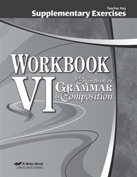 Supplementary Exercises for Workbook VI - Teacher Key