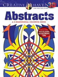 Creative Haven  3-D Abstracts - Coloring Book
