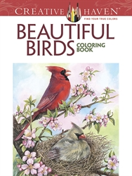 Creative Haven Beautiful Birds - Coloring Book