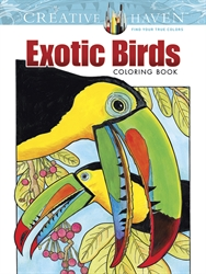 Creative Haven Exotic Birds - Coloring Book