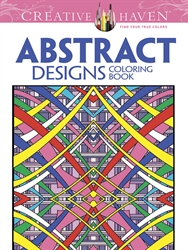 Creative Haven Abstract Designs - Coloring Book