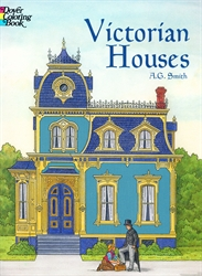 Victorian Houses - Coloring Book