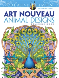 Creative Haven Art Nouveau Animal Designs - Coloring Book