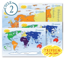 Trivium at the Table Placemats: Geography Cycle 2