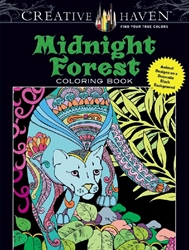 Creative Haven Midnight Forest - Coloring Book