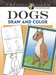 Creative Haven Dogs - Draw and Color