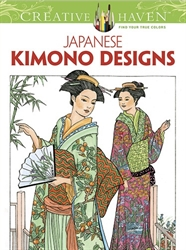 Creative Haven Japanese Kimono Designs - Coloring Book