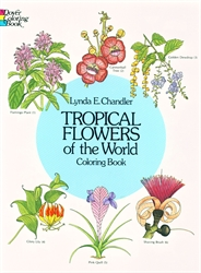 Tropical Flowers of the World - Coloring Book