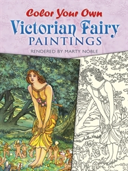 Color Your Own Victorian Fairy Paintings - Coloring Book