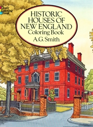Historic Houses of New England - Coloring Book