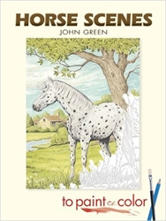 Horse Scenes to Paint or Color - Coloring Book