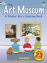 Art Museum: A Sticker Story Coloring Book