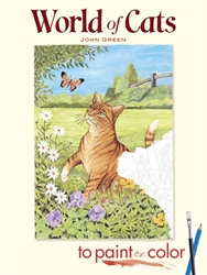 World of Cats to Paint or Color - Coloring Books